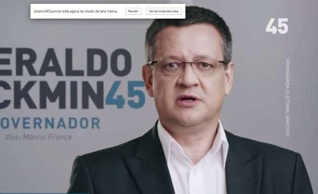 Vice de Marina aparece em programa de Alckmin antes de Aécio