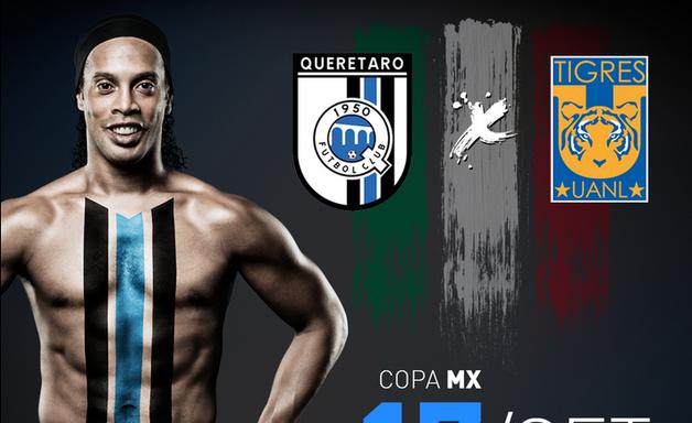Ronaldinho anuncia estreia na quarta pelo Querétaro