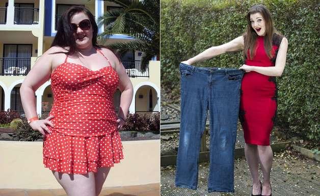 Mulher emagrece 45kg após ser impedida de ter parto na água