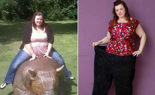 Mulher perde quase 70kg após se comparar com búfalo em foto