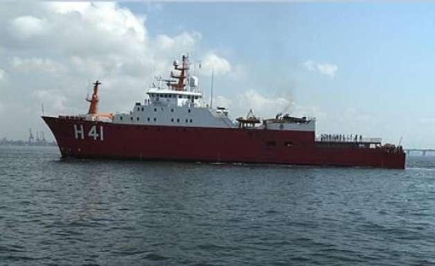 Navio da Marinha atraca no RJ após 6 meses na Antártica