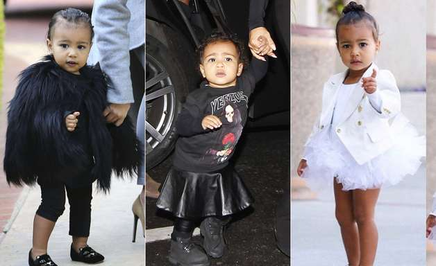 Filha de Kim, North West faz 2 anos com guarda-roupa de 20