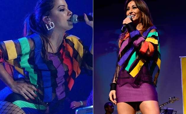 Quem vestiu melhor? Sabrina e Anitta usam blusa transparente