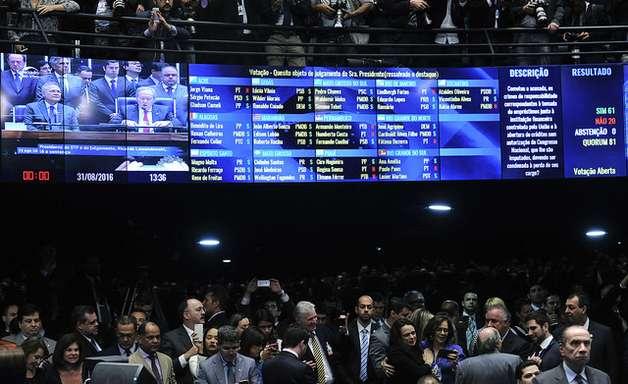 Veja como votou cada senador no julgamento do impeachment
