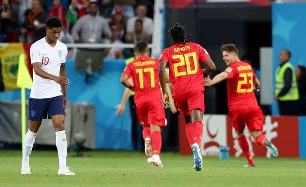 Bélgica vence Inglaterra e pode pegar o Brasil nas quartas
