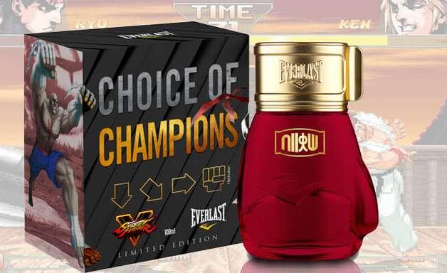 Série Street Fighter ganha perfume de verdade da Everlast