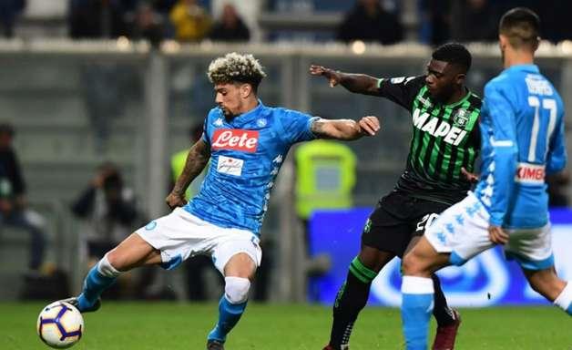 Napoli fica no empate com Sassuolo e vê título distante