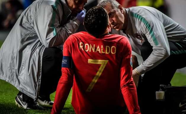 """""""Não estou preocupado"""", diz Cristiano Ronaldo após lesão"""