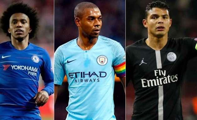 Willian, Fernandinho, Thiago Silva... Os brasileiros que estão no último ano de contrato na Europa
