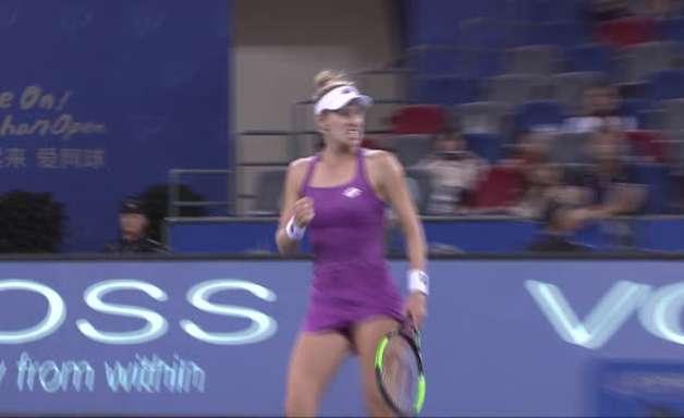WTA Wuhan: Riske venceu Kvitova (7-5 7-5)