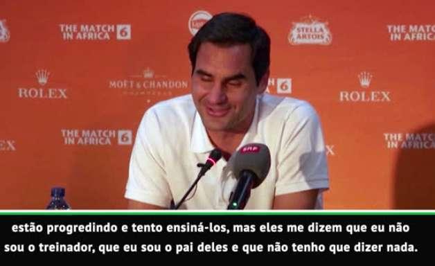 """VIRAL: Tênis: Federer conta que seus filhos não o escutam: """"Se o treinador de vocês sabe mais, tudo bem"""""""