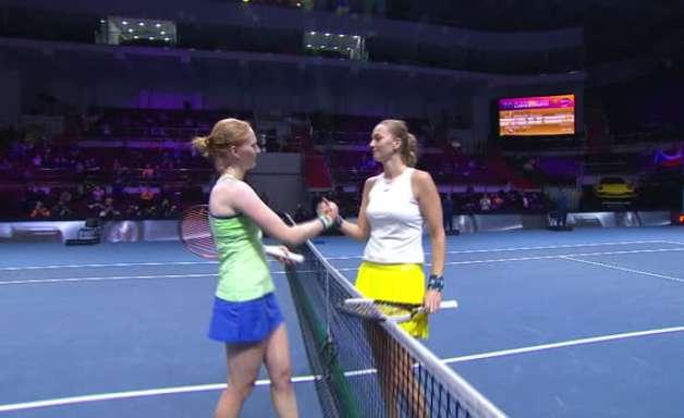 TÊNIS: WTA São Petersburgo: Kvitova derrota Van Uytvanck (7-6, 1-6, 6-2)