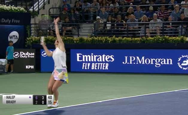 TÊNIS: WTA Dubai: Halep vence Brady (6-2, 6-0)