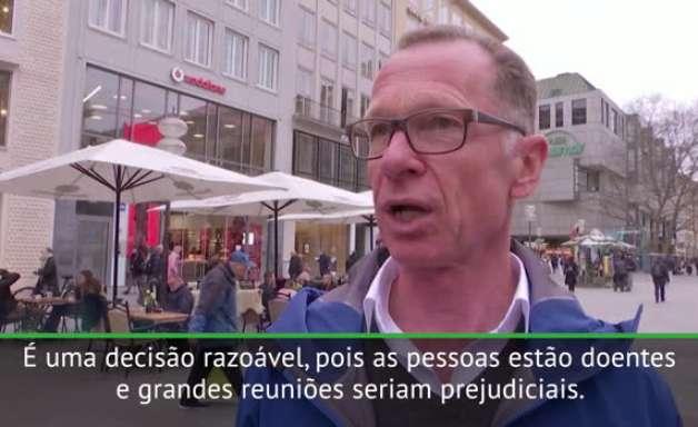 Euro 2020: Torcida alemã reage ao cancelamento do torneio