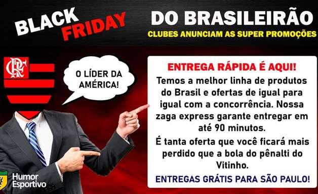 E se os clubes brasileiros anunciassem suas promoções na Black Friday?
