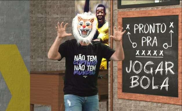 Neto zoa Palmeiras com máscara de tigre e detona Felipe Melo