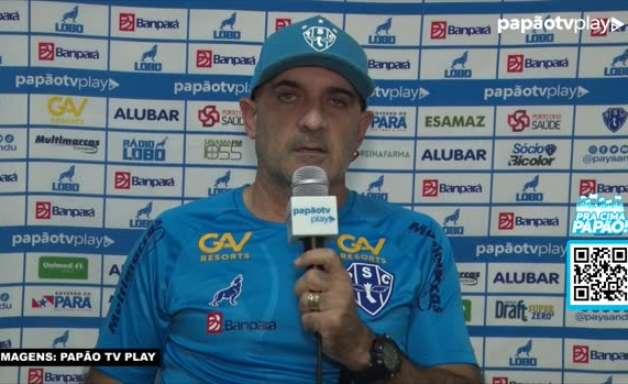 """PAYSANDU: Schulle garante que manterá forma de jogar em partida da Copa do Brasil: """"Vamos continuar com o mesmo trabalho"""""""