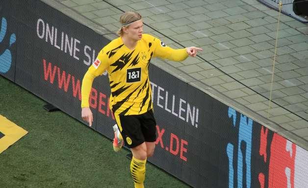Haaland faz dois, mas Borussia só empata com o Colônia