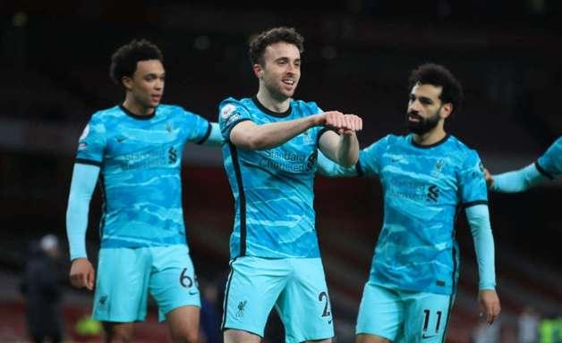 Diogo Jota decide e Liverpool vence o Arsenal fora de casa