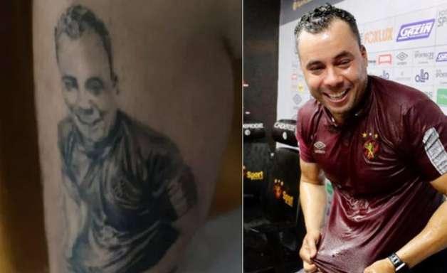 Torcedor que tatuou Jair Ventura discorda de demissão e diz que vai manter desenho: 'Em respeito'