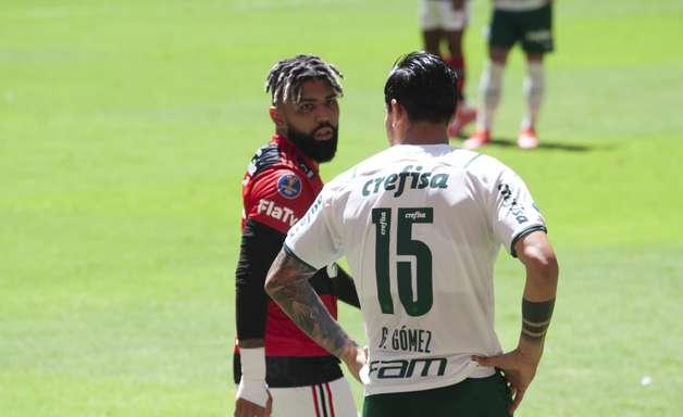 Elencos de Fla e Palmeiras brigam em vestiário após expulsão