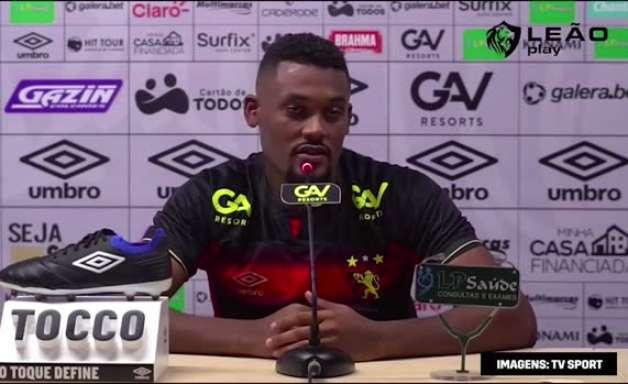 """SPORT: Sabino é apresentado e mostra tranquilidade com concorrência na posição: """"chego para respeitar todos eles"""""""
