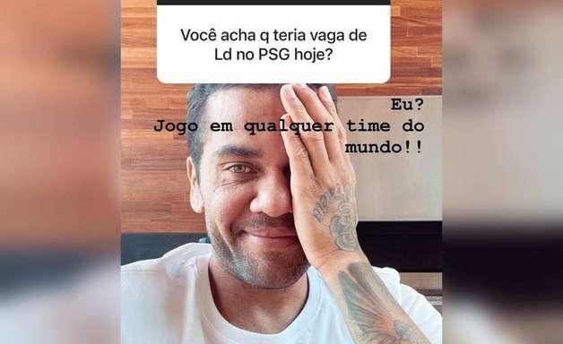 'Jogo em qualquer time do mundo', diz Daniel Alves sobre atuar na lateral-direita do PSG