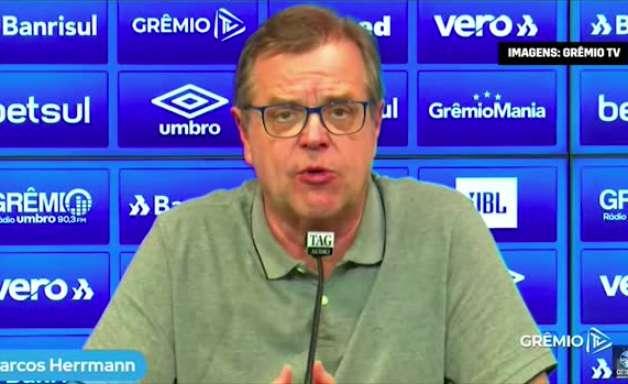 """GRÊMIO: Marcos Herrmann é apresentado, cita clube forte no futuro e fala em 'convocação' para exercer o cargo: """"senti a necessidade de dar minha contribuição"""""""