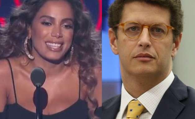Anitta e ministro Ricardo Salles brigam via Twitter