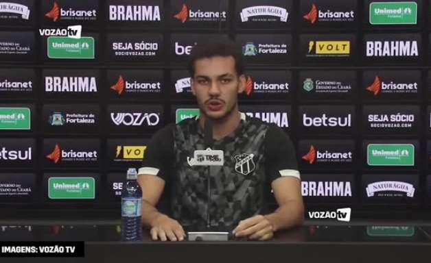 """CEARÁ: Pedro Naressi celebra gol e vitória na estreia da Sul-Americana: """"sensação única na minha vida"""""""