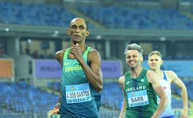 Brasileiros conquistam medalha de prata no 4×400 m misto no Mundial da Polônia
