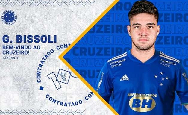 Cruzeiro confirma a contratação do atacante Guilherme Bissoli