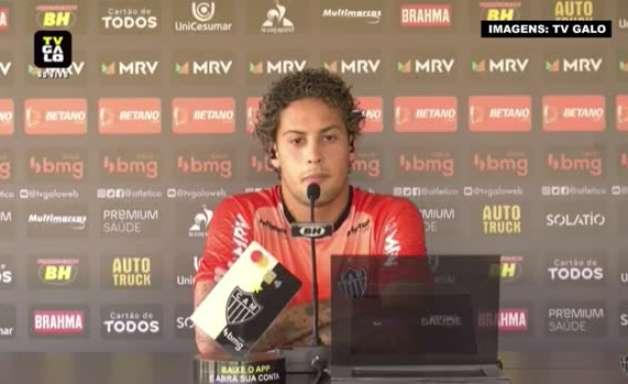 """ATLÉTICO-MG: Guga fala sobre revesamento na posição com o Mariano, comenta conversa com Cuca e garante: """"Quem jogar vai dar o seu melhor"""""""