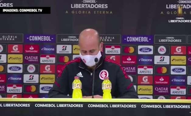 "INTERNACIONAL: Miguel Ángel Ramírez fala sobre setor ofensivo após resultado de 6 a 1 sobre o Olimpia: ""me preocupo que tenhamos volume ofensivo"""