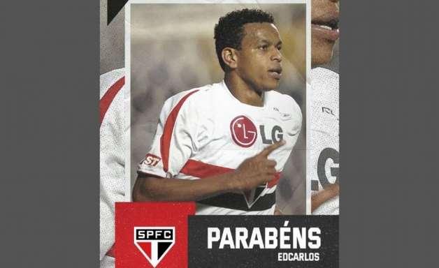 Edcarlos recebe homenagem do São Paulo em seu aniversário de 36 anos