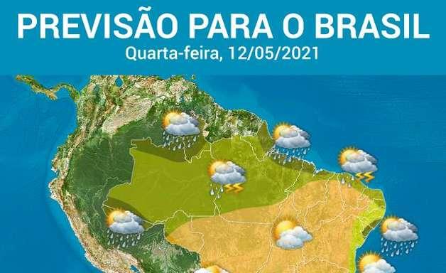 Tempo seco predomina no Brasil, mesmo com avanço de frente fria