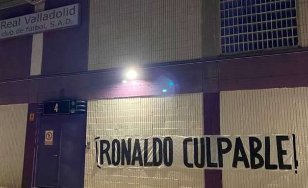 Torcida culpa Ronaldo pela iminente queda do Valladolid
