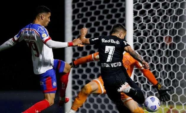 Em jogo de seis gols, Bragantino e Bahia empatam