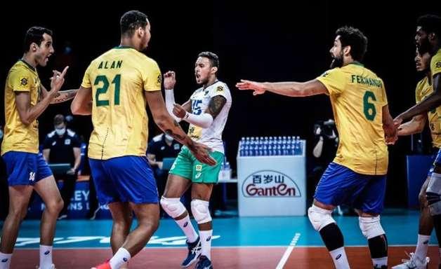 Brasil derrota a Bulgária e soma sétima vitória na Liga das Nações masculina