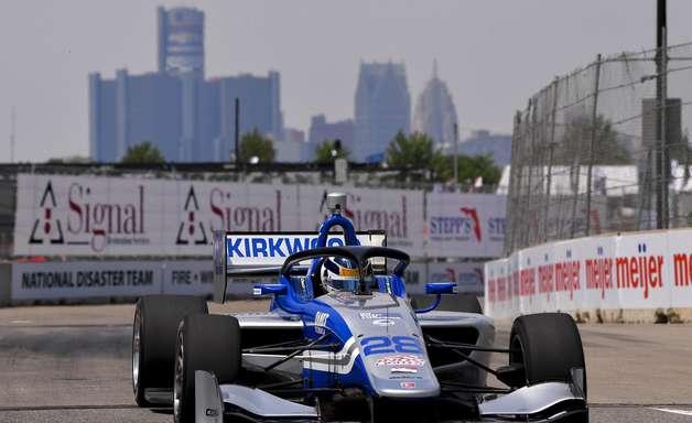 Kirkwood vence corrida 2 da Indy Lights em Detroit. Lundqvist vira líder do campeonato