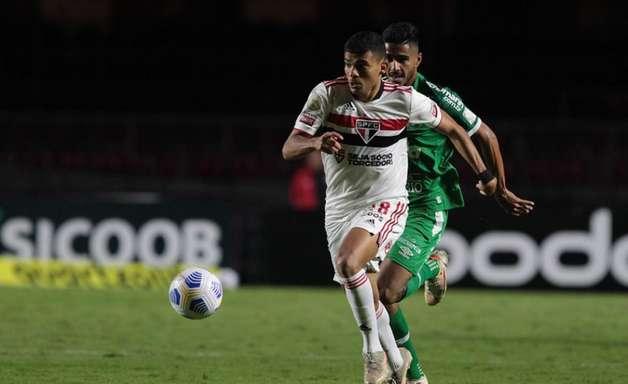Bruno Rodrigues tem poucos minutos em campo no empate do São Paulo