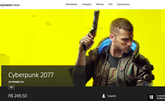 Cyberpunk 2077 volta à PS Store com aviso da Sony no PS4