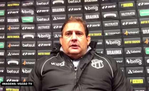 """CEARÁ: Guto Ferreira avalia partida de Marlon como volante: """"Taticamente foi muito aplicado"""""""