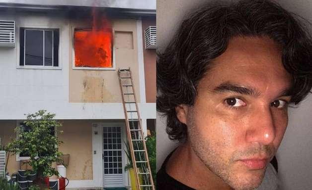 Casa de Fernando Sampaio é atingida por incêndio e ator perde todos os pertences
