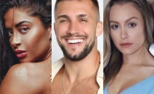 Arthur flerta com Aline Riscado e pede respeito por Carla Diaz