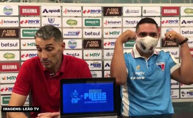 FORTALEZA: Vojvoda vê equipe com personalidade para virar placar com um a menos contra a Chapecoense