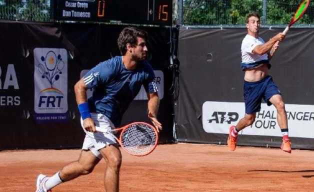 Orlando Luz e Felipe Meligeni na final de duplas em Iasi