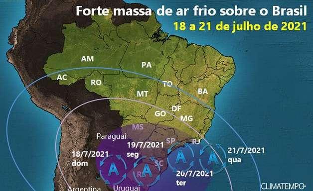 Brasil volta a ter temperatura negativa em semana gelada