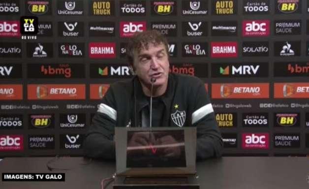"""ATLÉTICO-MG: Cuca rebate críticas sobre desempenho da equipe: """"Se eu fosse torcedor, estaria muito feliz"""""""
