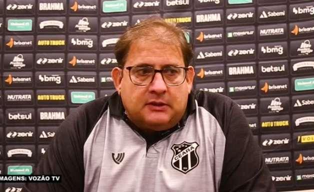 """CEARÁ: Guto Ferreira analisa derrota para o Corinthians e reconhece baixo rendimento da equipe: """"Estivemos muito aquém do nosso jogo normal"""""""